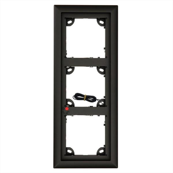 MOBOTIX 3er Rahmen schwarz (MX-OPT-Frame3-EXT-BL)