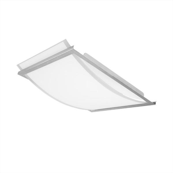 OSRAM LUNIVE ARC LED Wand/Deckenleuchte 16 Watt, 4000K, 810lm, 393 x 300 mm, Glas mit Stahlrahmen, A