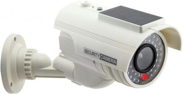 VALUE Dummy Outdoor Kamera mit LED Blinklicht, weiss