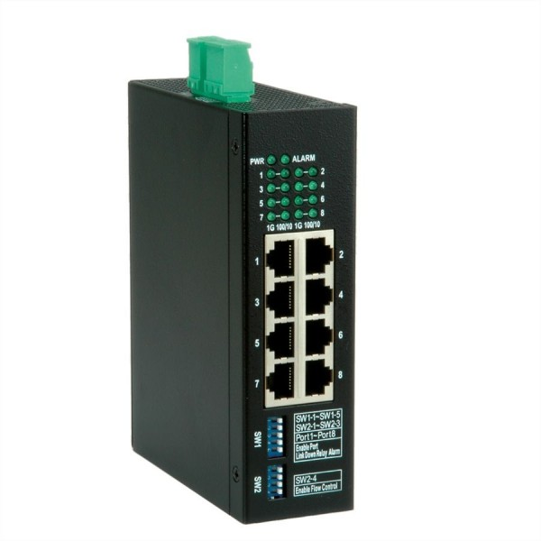 ROLINE Industrie Gigabit Switch, 8x RJ-45