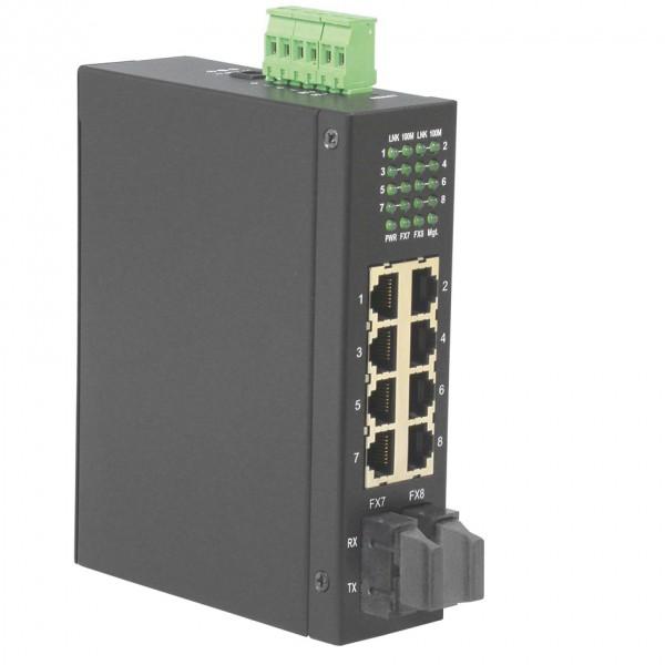 ROLINE Industrie Switch 6x RJ-45, 2x SC, unmanaged