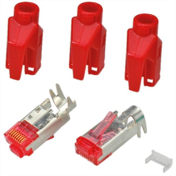 HiRose TM21 Stecker geschirmt, Tülle rot, 50 Stück