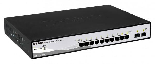 D-Link Web Smart DGS-1210-10P verwaltet 8 x 10/100/1000 (PoE+)
