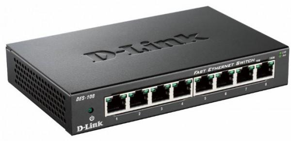 D-Link DES-108/E 8-Port Layer2 Fast Ethernet Switch