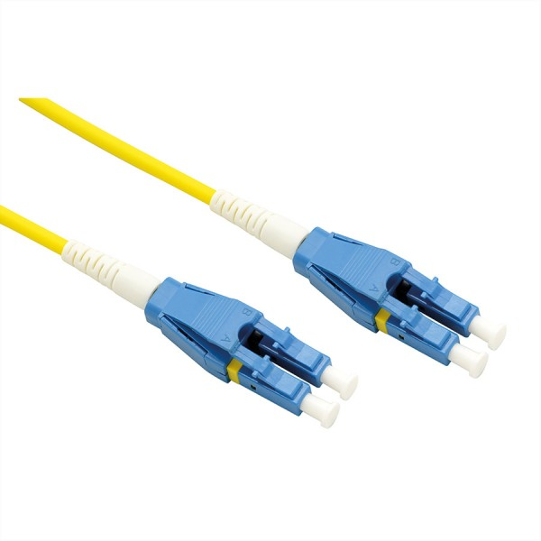 ROLINE LWL-Kabel Duplex, Single Mode 9/125µm OS2, LC/LC, gelb, 2 m