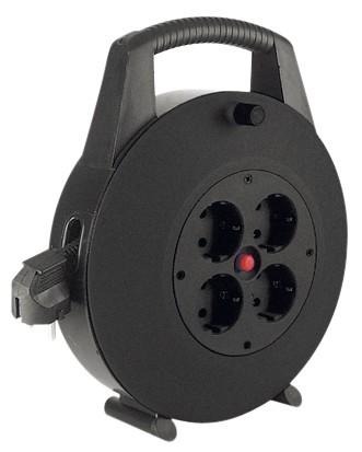Schutzkontakt-Aufrollkabelbox 4fach AC230V Kabel, 10m