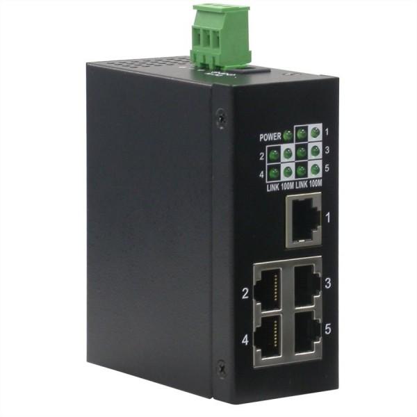 ROLINE Industrie Switch 5x RJ-45, unmanaged