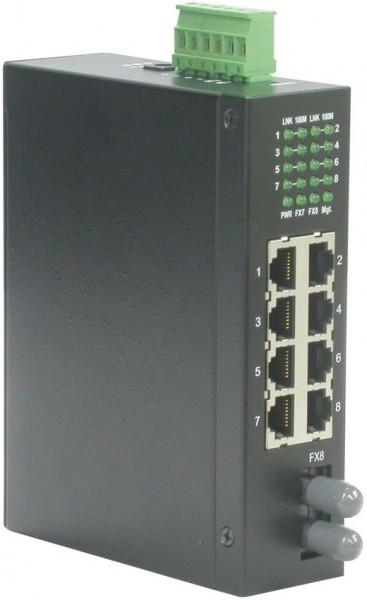 ROLINE Industrie Switch 7x RJ-45, 1x ST, unmanaged