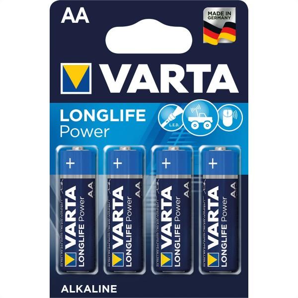 VARTA Batterie Mignon AM-3, AA, LR06, 4er, 1,5V, 4 Zellen per Blister