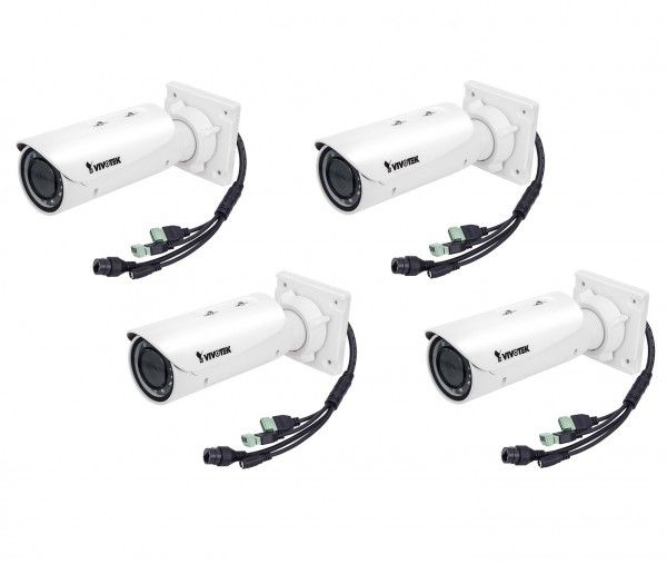 VIVOTEK IB8382T (4 Stück) Bullet IP Kamera 5MP, Outdoor, IR, PoE, 3-9mm, IP66, Smart * AKTION