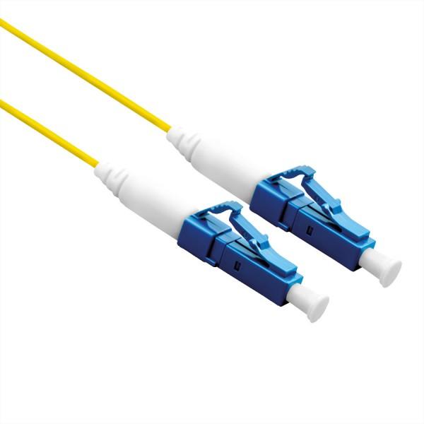 ROLINE Glasfaserkabel 9/125µm, OS2, LC/LC Stecker, LSOH, simplex, gelb, 0,5 m