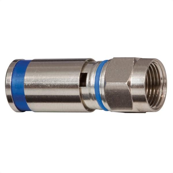 KLEIN TOOLS VDV812-615 F-Kompressionssteckverbinder RG6 für Außeneinsatz, 10 Stück