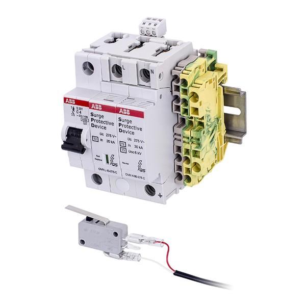 VIVOTEK AT-SWH-000 Sicherungskit (100~275VAC): 20-40KA, DIN-Rail