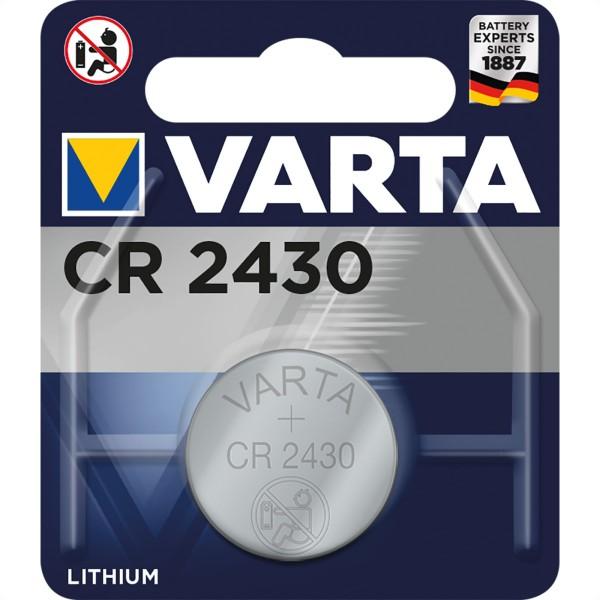 VARTA Lithium Knopfzelle CR-2430, 3V, 290mAh