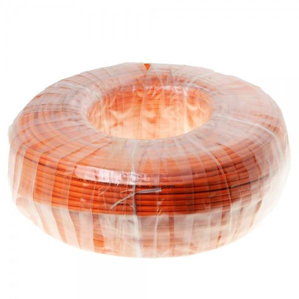Helos Verlegekabel Duplex, Cat 7, S/FTP, PiMF, LSZH, orange, 100m Ring