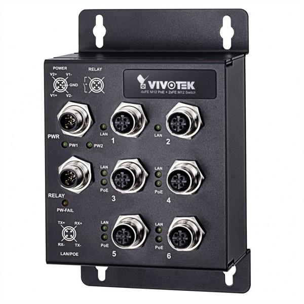 VIVOTEK AW-IHT-0602 Industrieller Fast Ethernet M12 PoE Switch nach EN50155