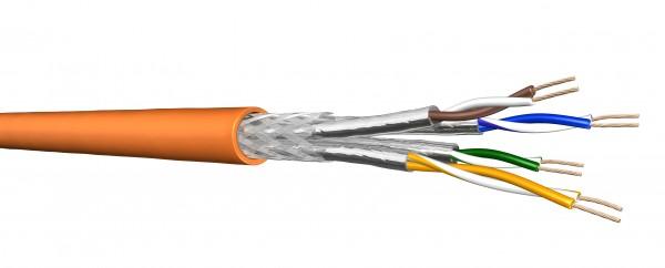 Draka Verlegekabel UC900 HS23, Cat 7, S/FTP, PiMF, orange, 100m Ring