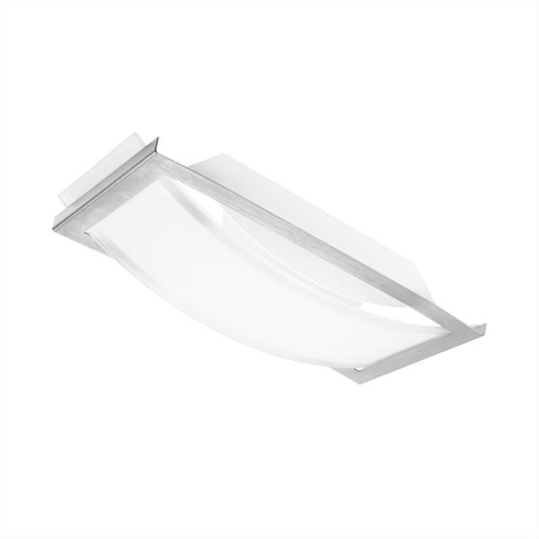 OSRAM LUNIVE ARC LED Wand/Deckenleuchte 8 Watt, 4000K, 400lm, 265 x 117 mm, Glas mit Stahlrahmen, A,