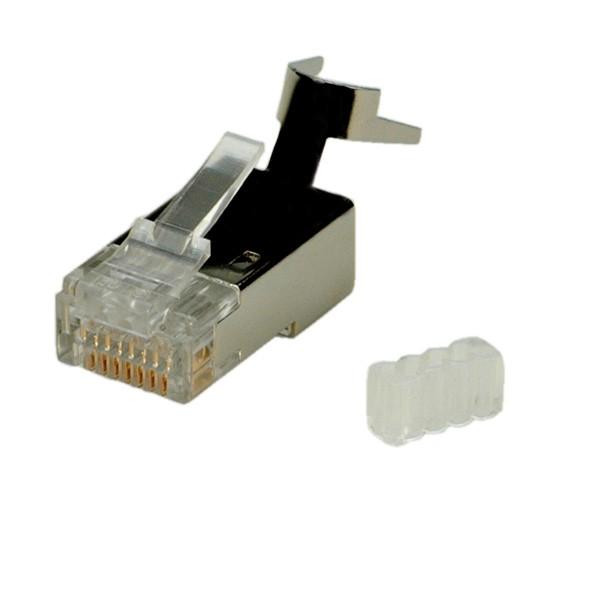ROLINE Modular Plug geschirmt, Kat.6 (Class E) für Massivdraht, 10 Stck