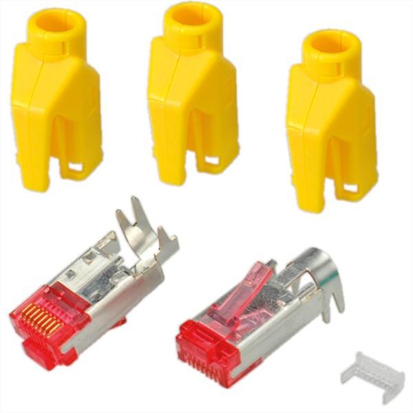 HiRose TM21 Stecker geschirmt, Tülle gelb, 50 Stück