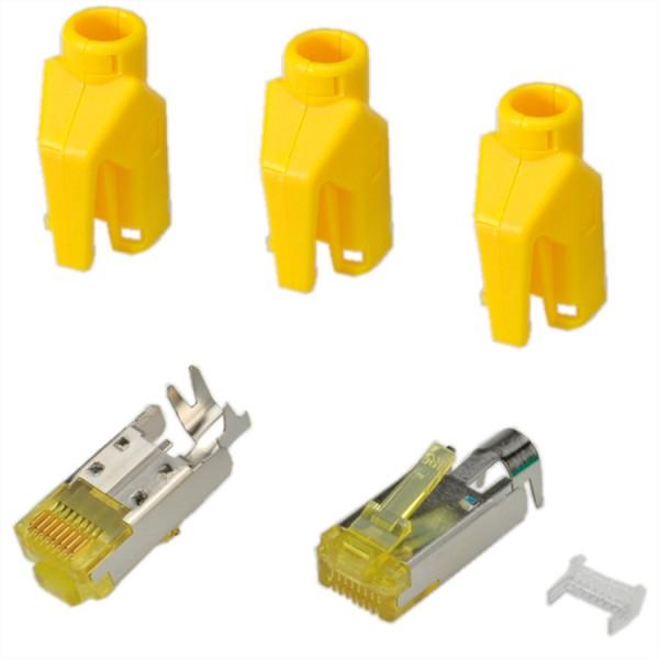 HiRose TM31 Stecker geschirmt, Tülle gelb, 50 Stück