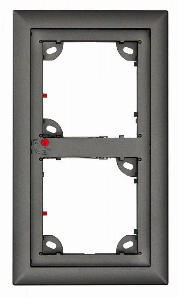 MOBOTIX MX-OPT-Frame-2-EXT-DG 2er Rahmen, dunkelgrau