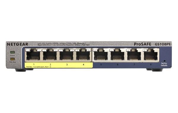 Netgear GS108PE ProSafe Plus Gigabit PoE Switch