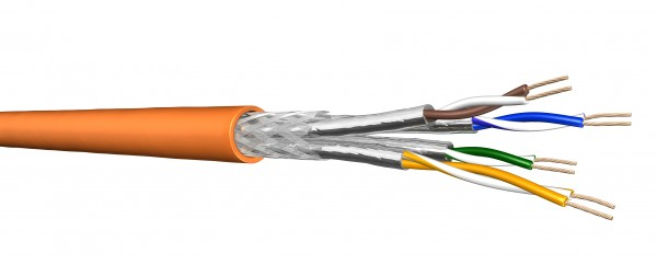 Draka Verlegekabel UC900 HS23, Cat 7, S/FTP, PiMF, orange, 50m Ring