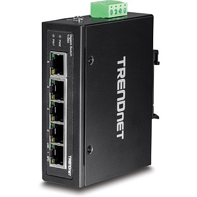 Trendnet TI-G50 5-Port Gehärteter Industrieller Gigabit DIN-Rail Switch