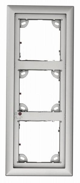 MOBOTIX MX-OPT-Frame-3-EXT-SV 3er Rahmen, silber