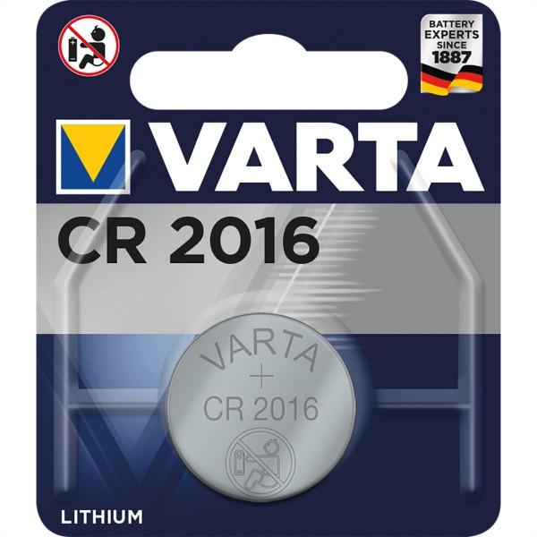 VARTA Knopfzellen CR2016, 3,0V