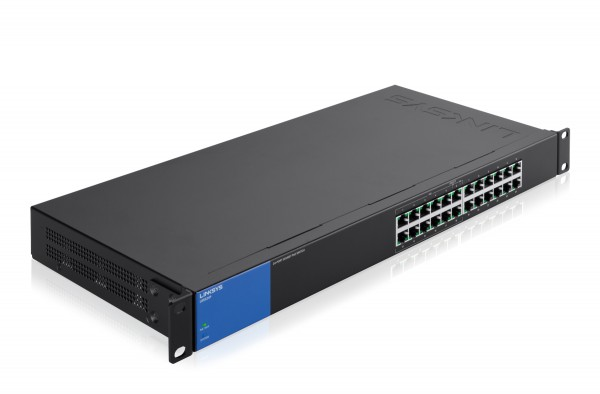 Linksys LGS124P 24-Port Rackmount Gigabit PoE+ Switch für Unternehmen