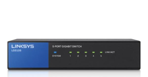 Linksys LGS105 5-Port Desktop Gigabit Switch für Unternehmen