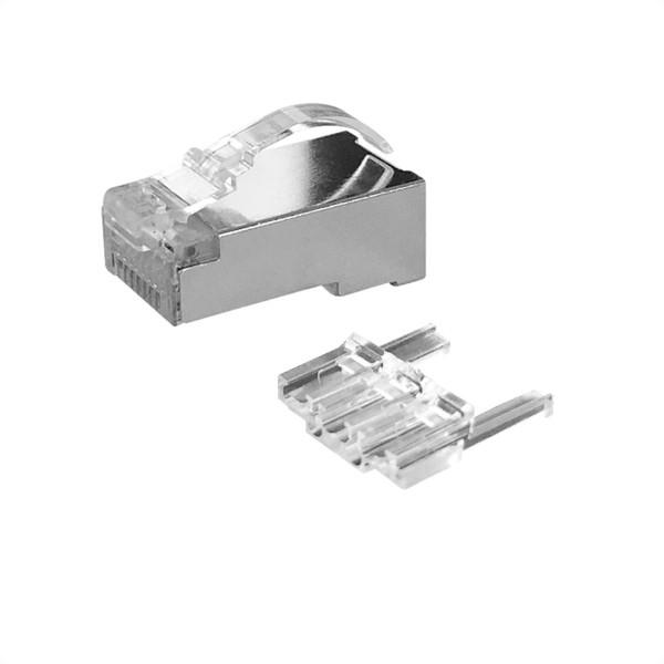 ROLINE Modular Plug geschirmt, Kat.6 (Class E), Bogen-Rasthebel, 10 Stck