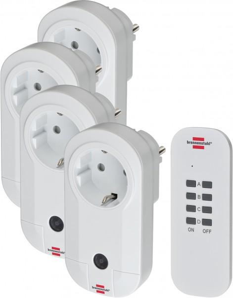 Brennenstuhl Comfort-Line 4-fach Funkschalt-Set RC CE1 4001, IP20