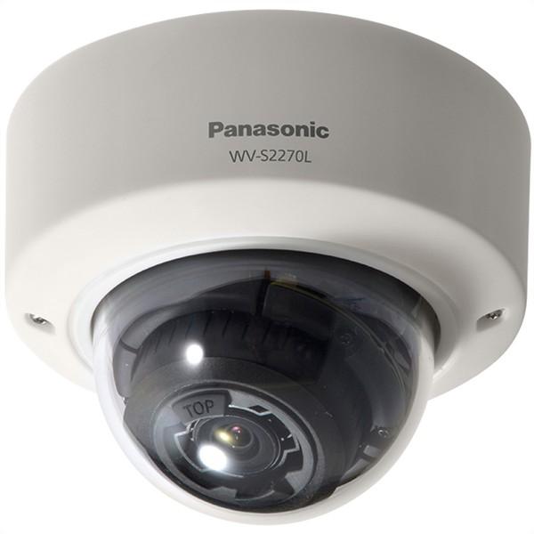 PANASONIC WV-S2270L 4K Fixed-Dome IP-Kamera, H.265, Varioobjektiv, IR, IK10, Inneneinsatz