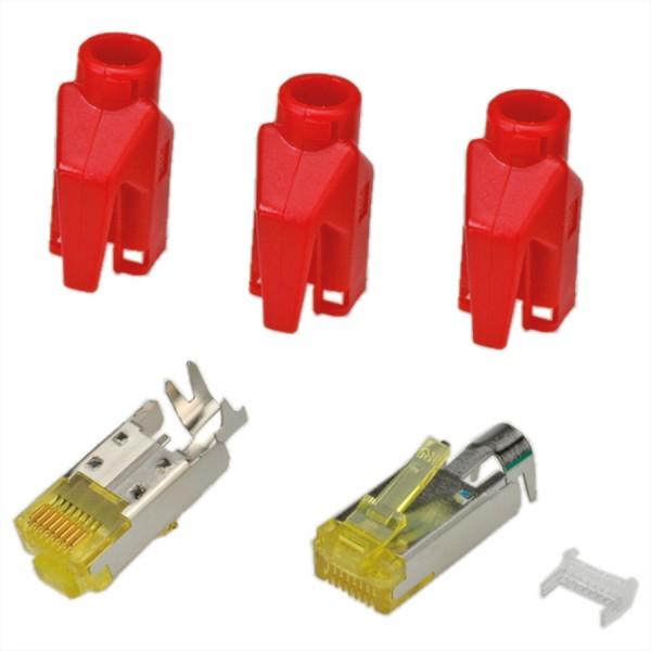 HiRose TM31 Stecker geschirmt, Tülle rot, 50 Stück
