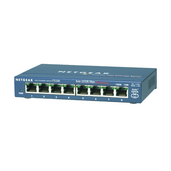 FS108 Desktop Switch, 8x RJ-45