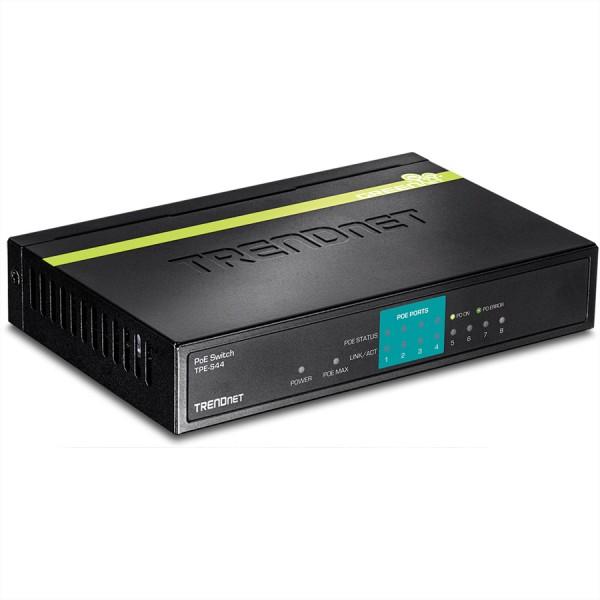 Trendnet TPE-S44 Unmanaged network switch Energie Über Ethernet (PoE) Unterstützung Blau Netzwerk-Sw