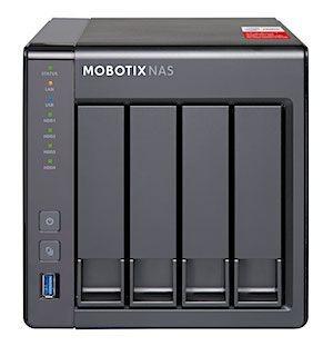 MOBOTIX NAS mit 4 Einschüben, 16 Kanäle, Tower, max. 36TB