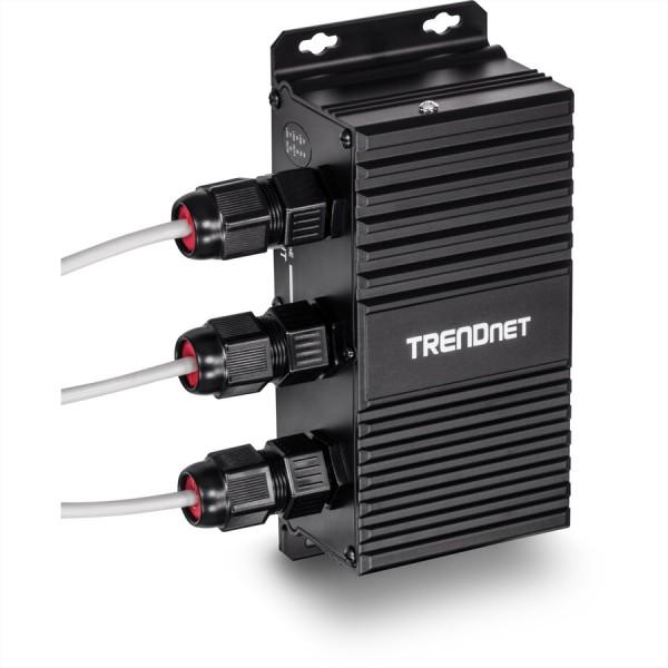 TRENDnet TI-EU120 2-Port UPoE Extender Industrial Outdoor Gigabit