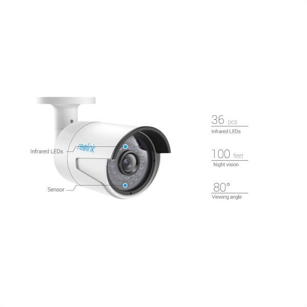Reolink RLC-410 5MP PoE IP-Kamera