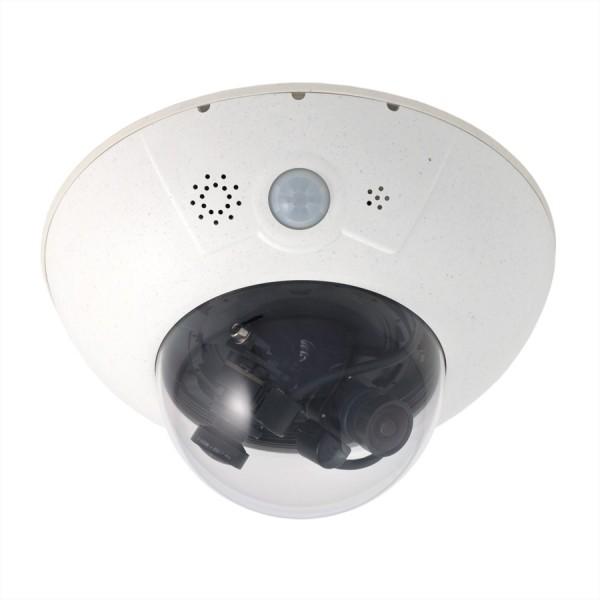 MOBOTIX D16B DualDome-Kamera 6MP mit zwei B061 Objektiven (60° Tag/Nacht)