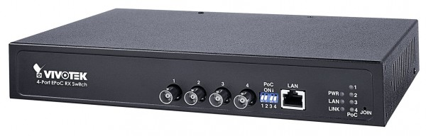 VIVOTEK AW-FCT-050A-250 EPoC, Indoor, 4x PoE over Coax, PoE Output