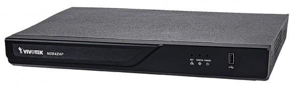 VIVOTEK ND9424P-v2 Netzwerkvideorekorder mit 16 Kanälen, 2 HDD, 16x PoE