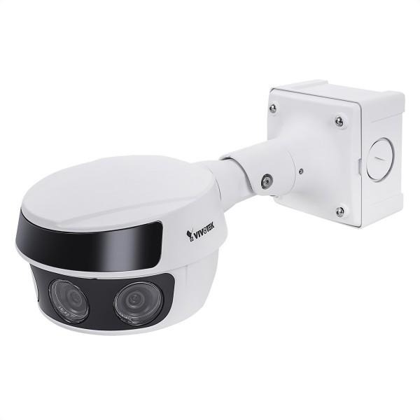 VIVOTEK MS9321-EHV Outdoor 20MP 30FPS Bullet IP-Kamera, 4x Fixobjektiv 3,8mm je 5MP, IR 30M