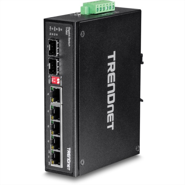 Trendnet TI-G62 6-Port Gehärteter Industrieller Gigabit DIN-Rail Switch