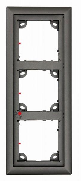 MOBOTIX MX-OPT-Frame-3-EXT-DG 3er Rahmen, dunkelgrau