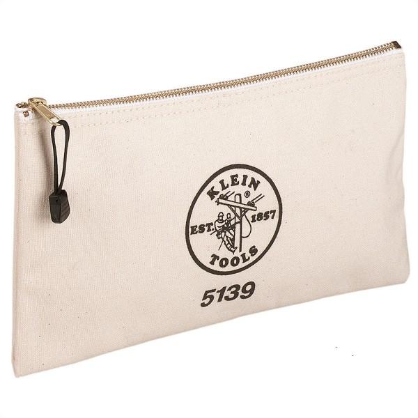 KLEIN TOOLS 5139 Stoff-Reißverschlusstasche, Canvas, Naturfarben