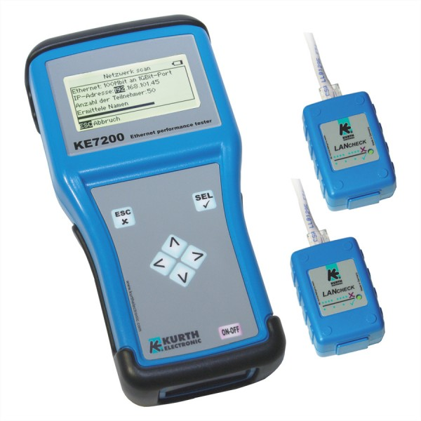 KE7200 Ethernet Performance Tester mit 2 Remote-Einheiten KE7010